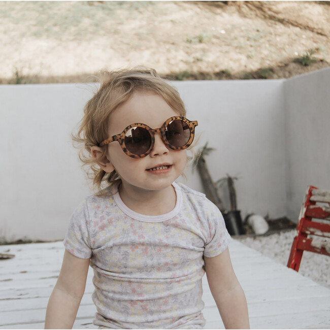 Round Retro Sunglasses, Light Tortoise