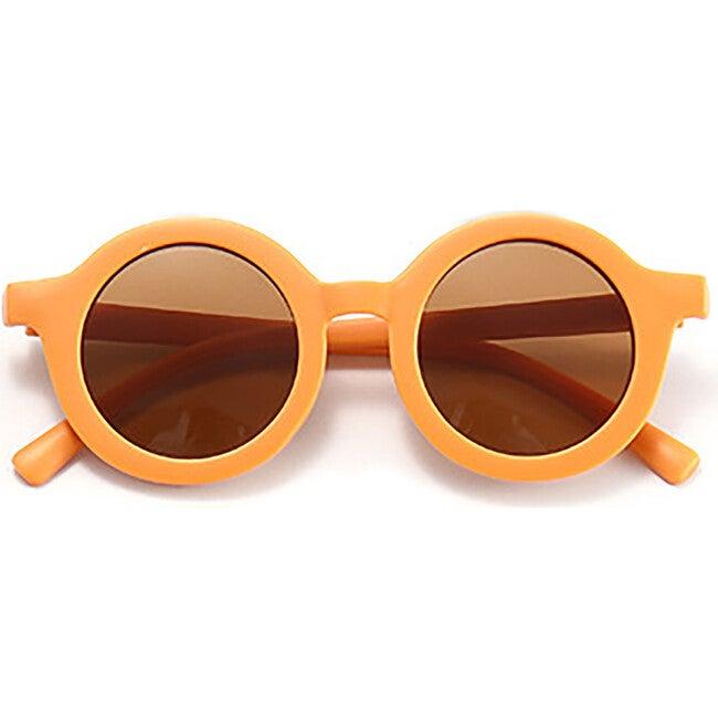 Round Retro Sunglasses, Clementine