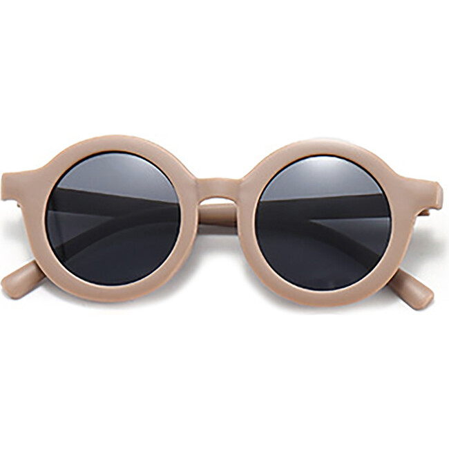 Round Retro Sunglasses, Coffee