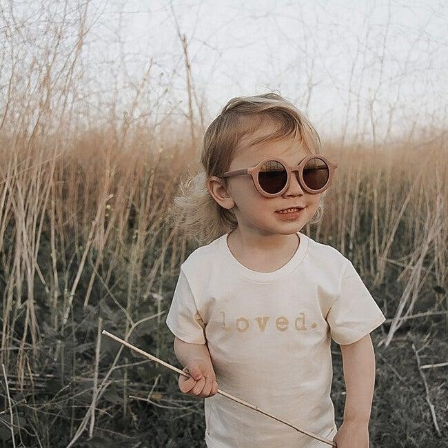 Round Retro Sunglasses, Dusty Rose