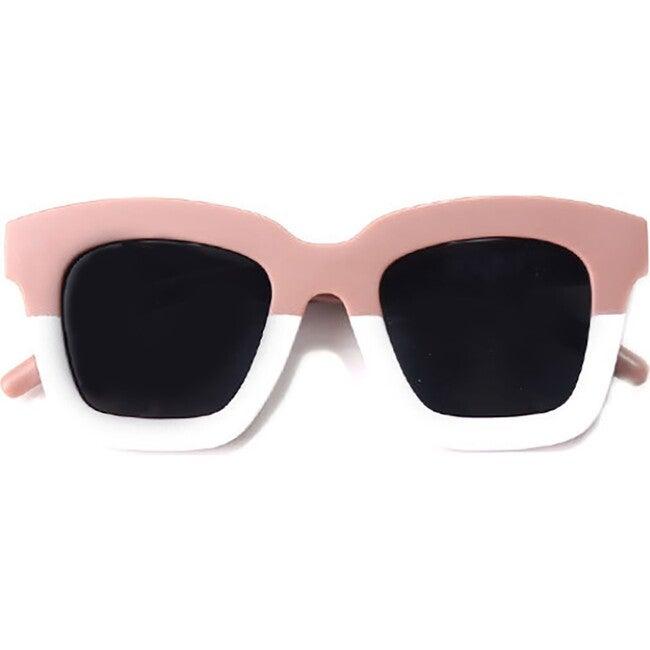 Cat Eye Rectangle Two Tone Sunglasses, Mauve