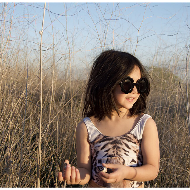 Flower Sunglasses, Black