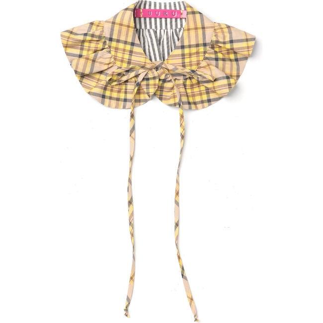 Women's Reversible Collar, Plaid & Stripe