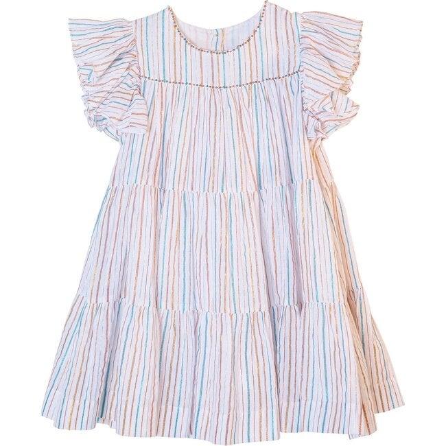 Millicent Dress, Rainbow Stripe