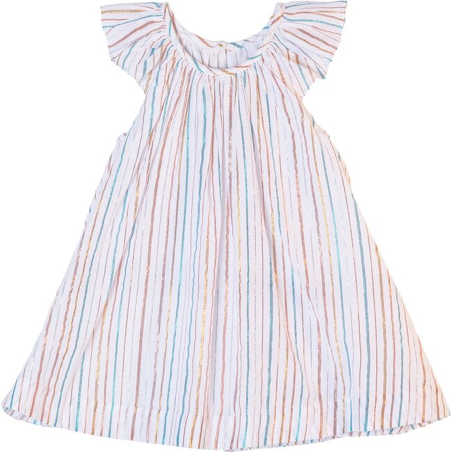 Harper Dress, Rainbow Stripe