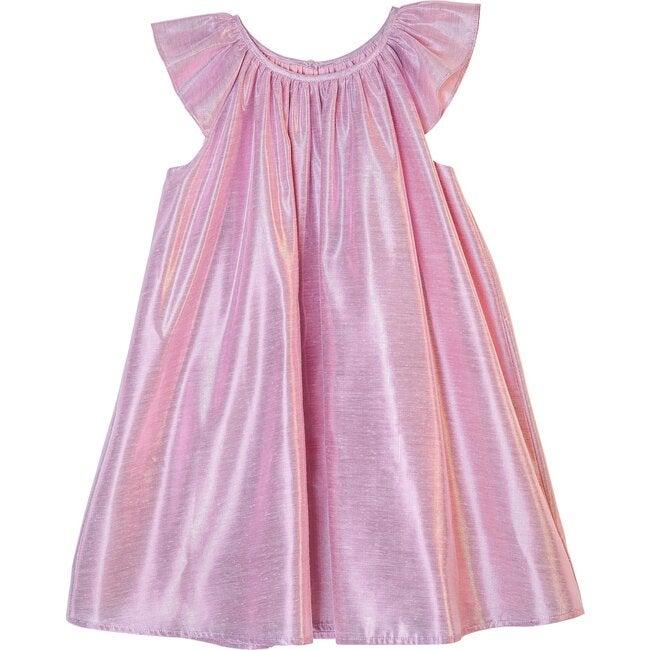 Isaebella Dress, Pink Lame
