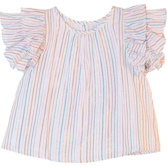 Edie Top, Rainbow Stripe