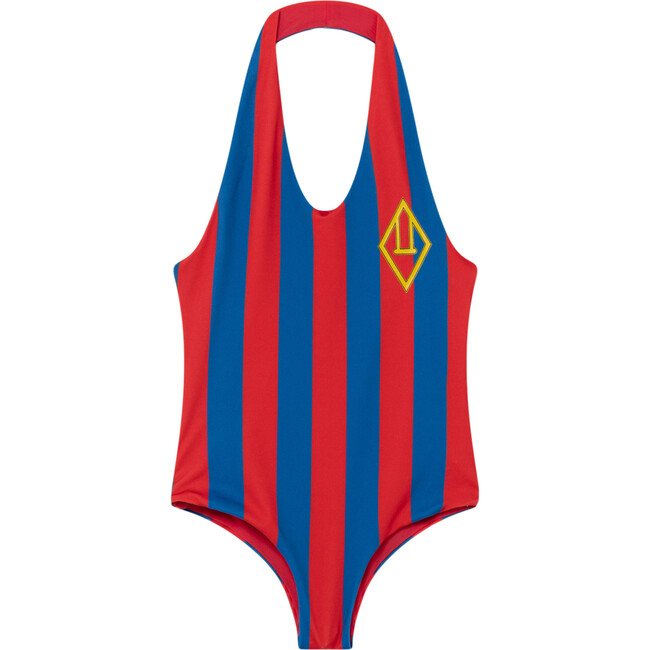 Fish Swimsuit, Red Stripes
