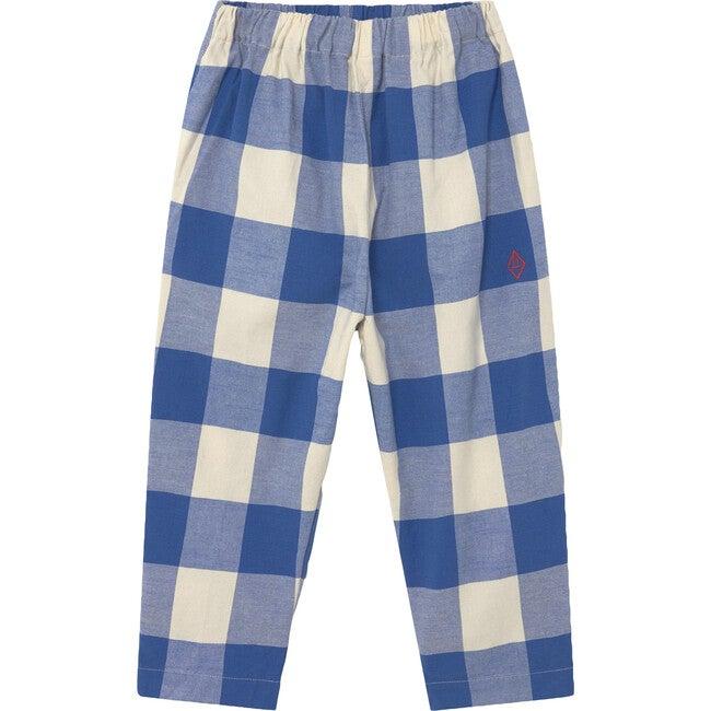Elephant Kids Trousers Blue Vichy Logo