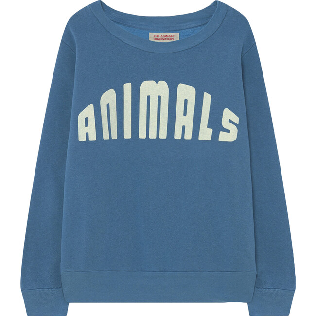 Bear Logo Sweatshirt, Blue Animals