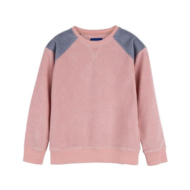 River Terry Sweatshirt, Pink & Dusty Blue