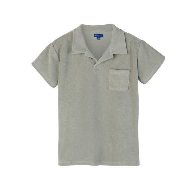 Cyrus Terry Polo, Light Sage - Polo Shirts - 1