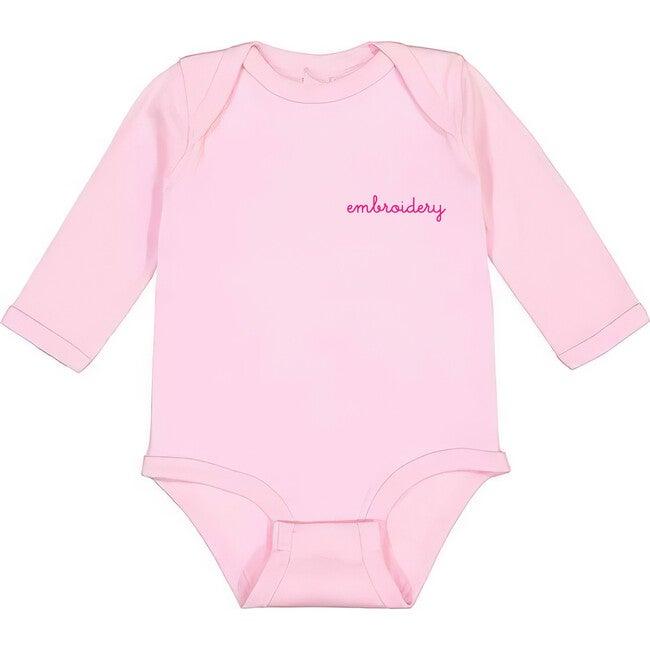 Baby Longsleeve Onesie, Pink
