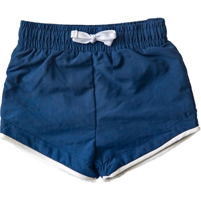 Cabana Swim Short- Nolan, Navy Blue with Navy Blue Liner