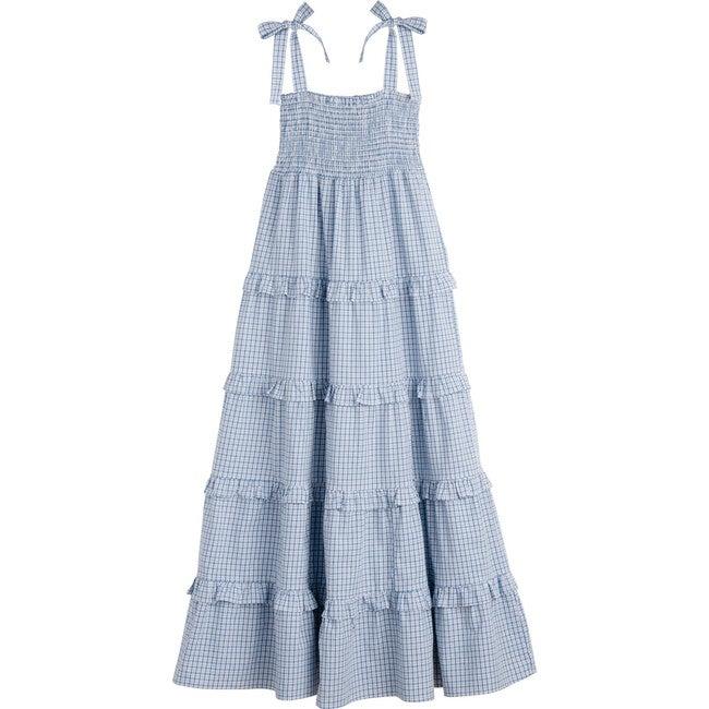 Brooklyn Women's Dress, Blue Check
