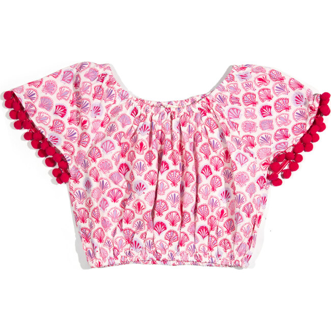 Leyla Top, Pink Print