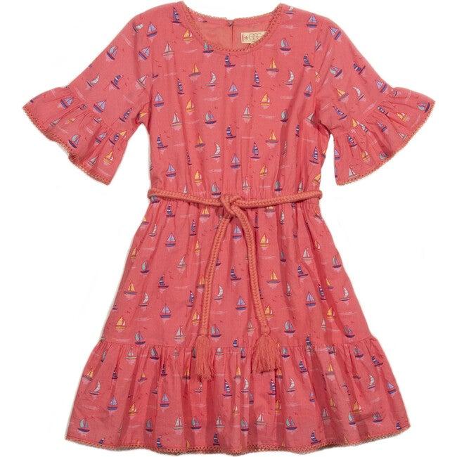 Annalise Dress, Coral