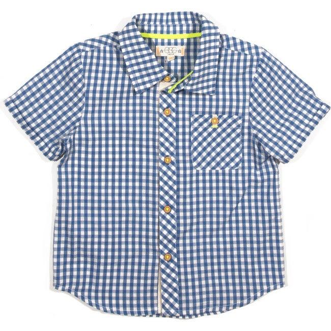 Adrian Plaid Shirt, Blue Plaid