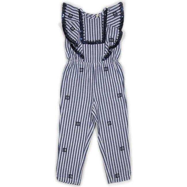 Abella Jumpsuit, Blue Stripe