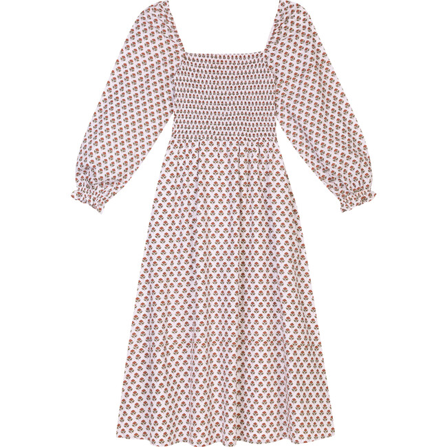 Women's The Piazza Dress, Brown Booti Flower