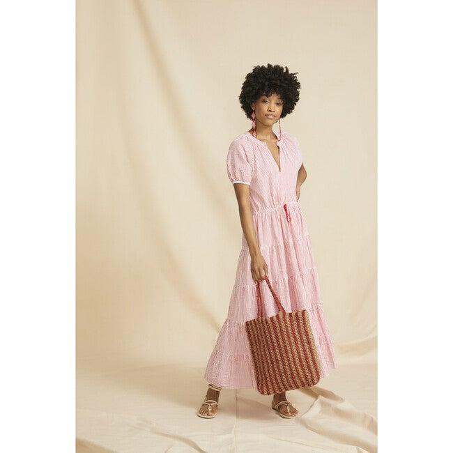 Women's The Island Dress, Red & White Striped Seersucker