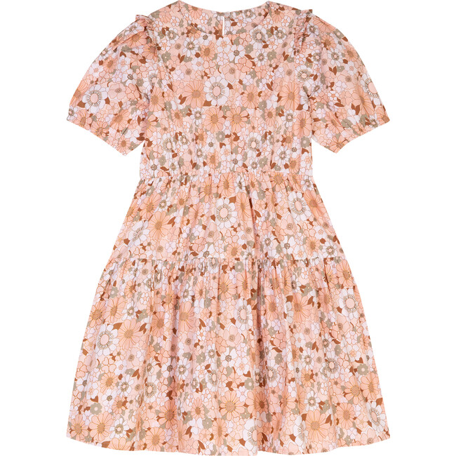 The Little Puff Sleeve Dress, Pink Floral