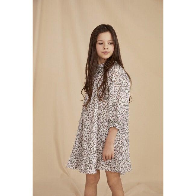 The Little Smocked Dress, Khaki Floral