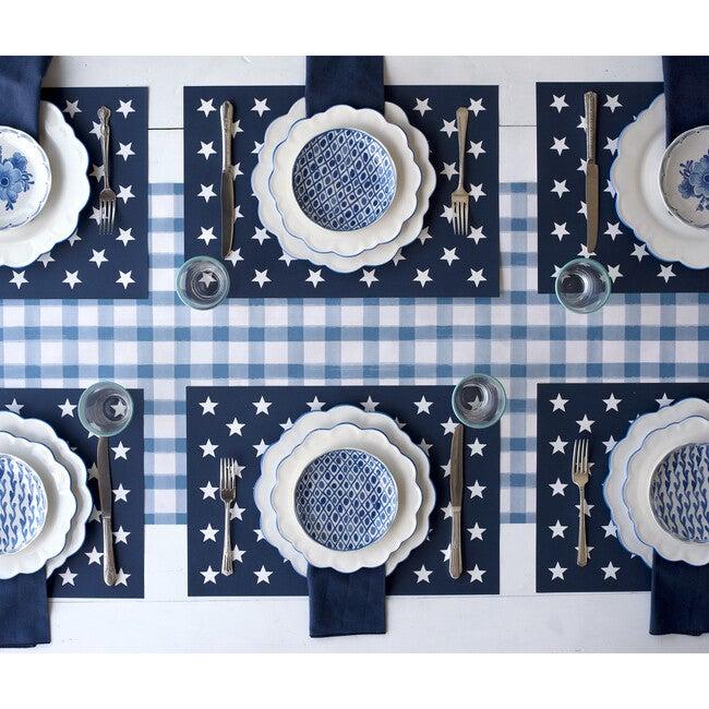 Blue Check & Stars Tablescape Bundle