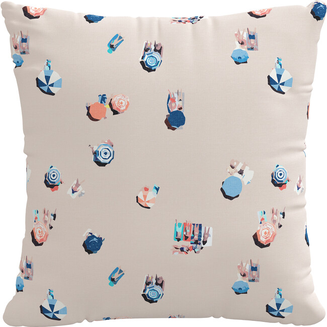 Beach Scene Decorative Pillow, Multi