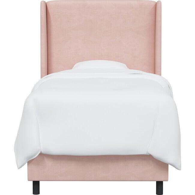 Quinn Wingback Bed, Blush Velvet - Beds - 1