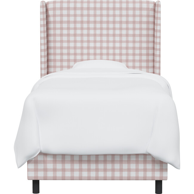 Quinn Wingback Bed, Pink Gingham