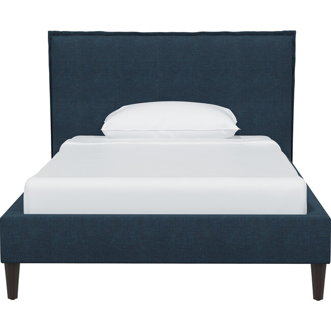 Haven Platform Bed, Navy Linen
