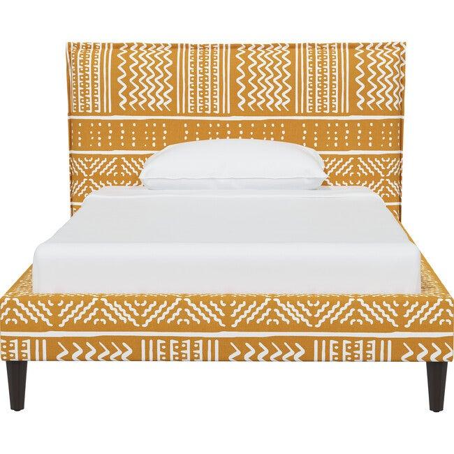 Haven Platform Bed, Ochre Mudcloth