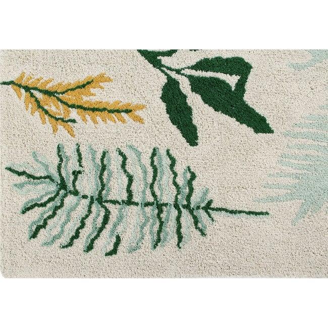 Botanic Plants Washable Rug, Multi
