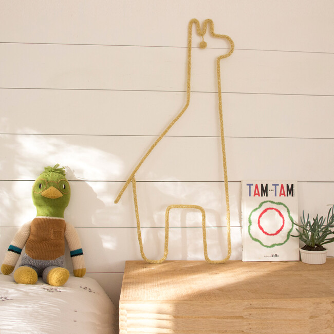 Giraffe Wall Hanging, Yellow