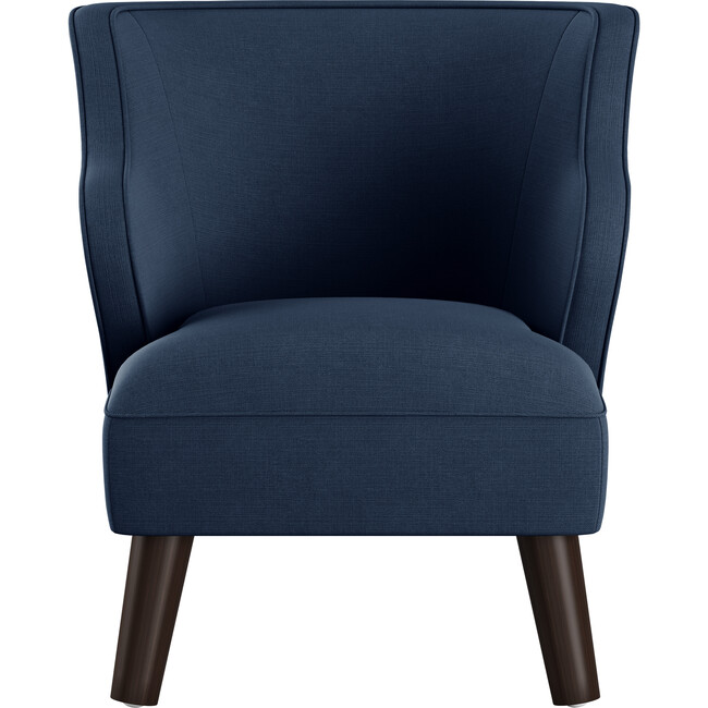 Felix Kids' Chair, Navy Linen