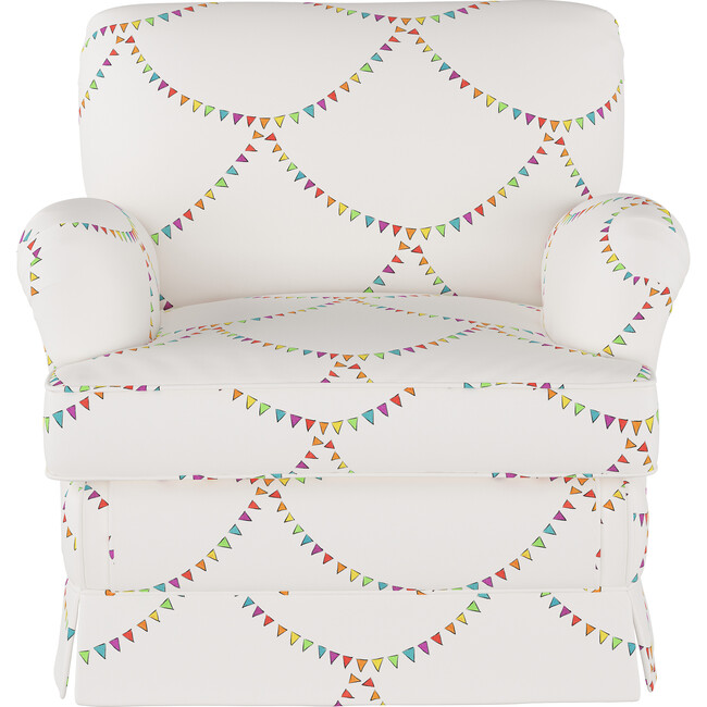 Kids Skirted Chair, Bunting Scallop Multi