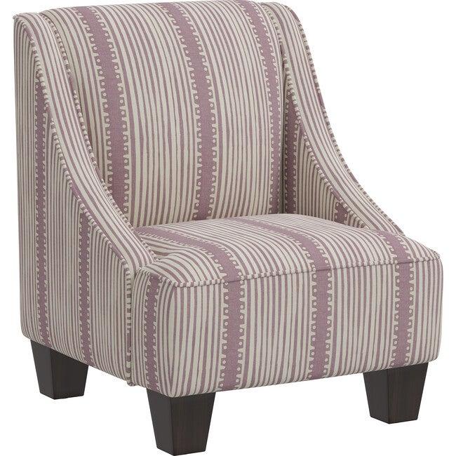 Campbell Kids' Chair, Blush Bennett Stripe