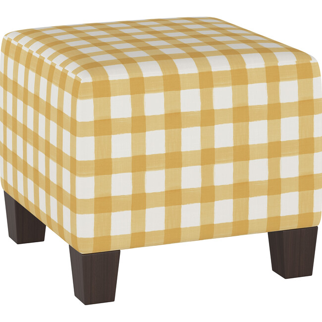 Cleo Ottoman, Buttercup Gingham
