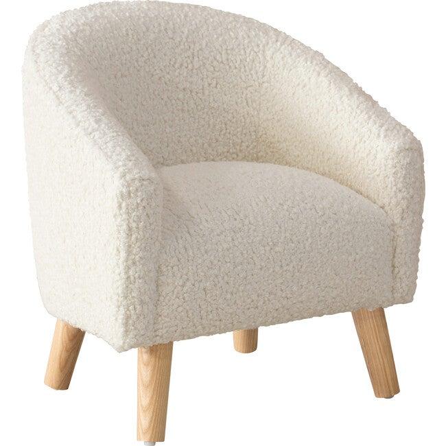 Stevie Kids' Chair, Ivory Sheepskin