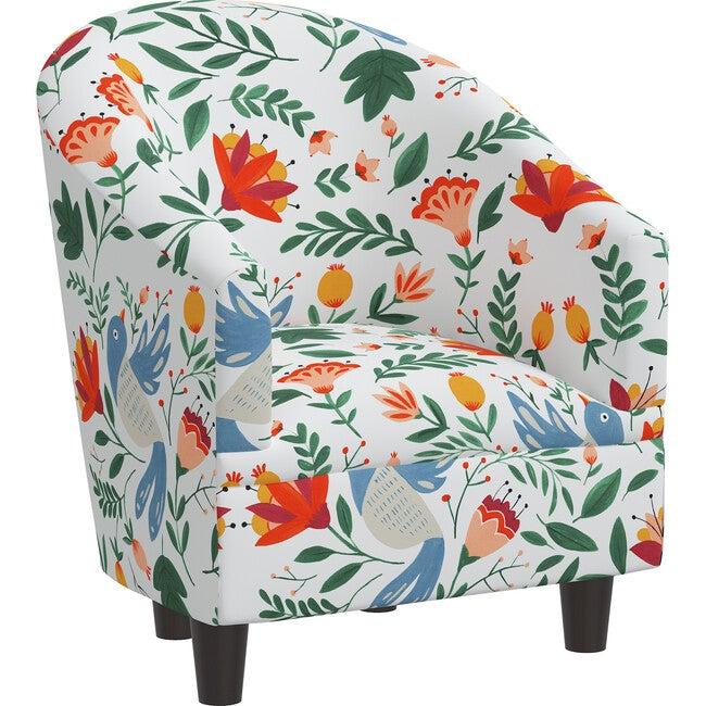 Riley Kids' Chair, Nordic Bird White