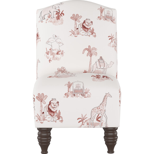 Camel Back Kids Chair, Malin Toile Pink