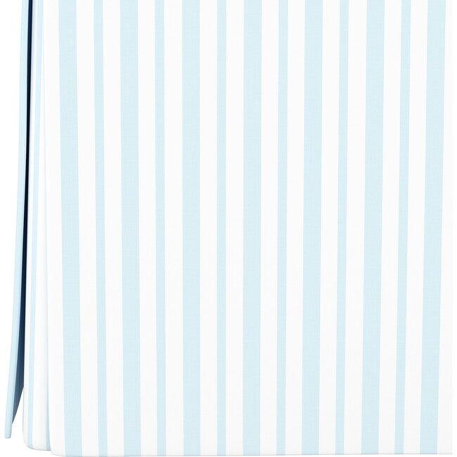 Skirted Storage Ottoman, Elephant Stripe Blue