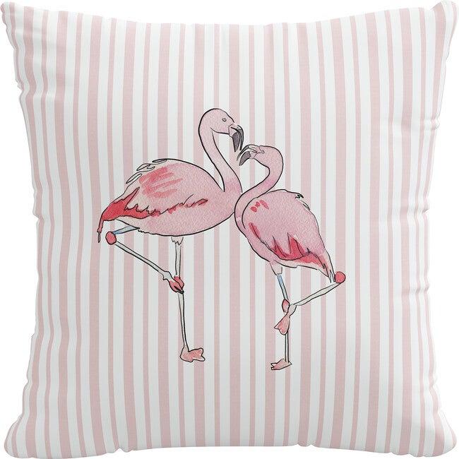 Pillow, Flamingo Stripe Pink
