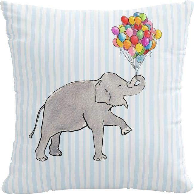 Pillow, Elephant Stripe Blue