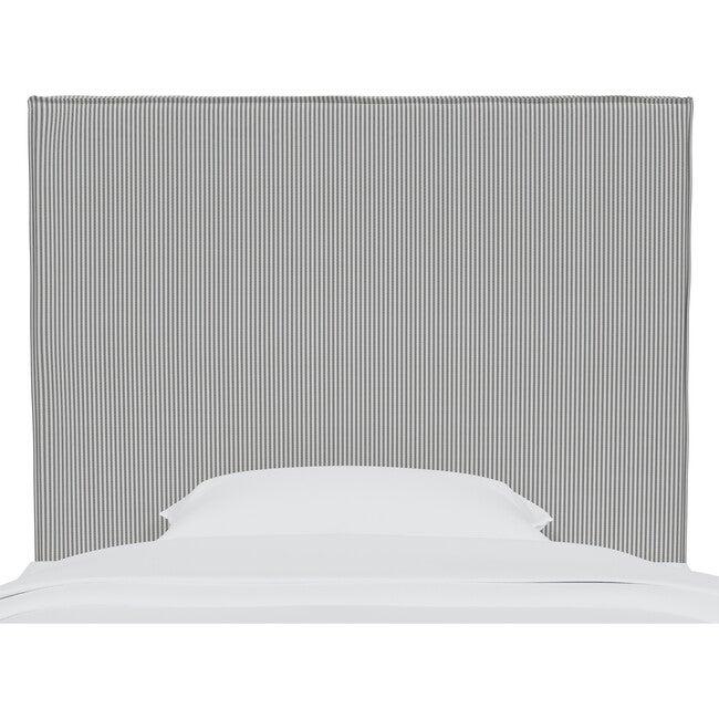 Haven Slipcover Headboard, Charcoal Oxford Stripe