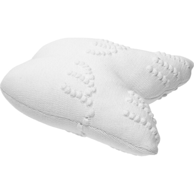 Knitted Cushion, Angel Wings