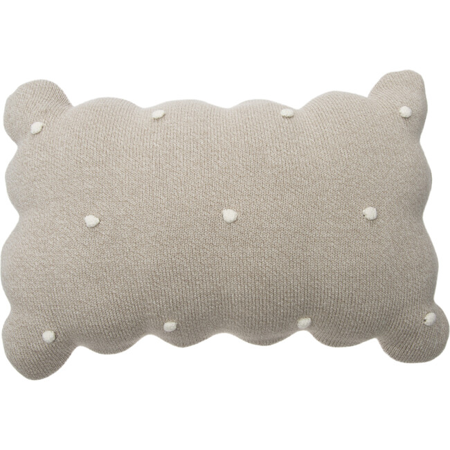 Knitted Biscuit Cushion, Dune
