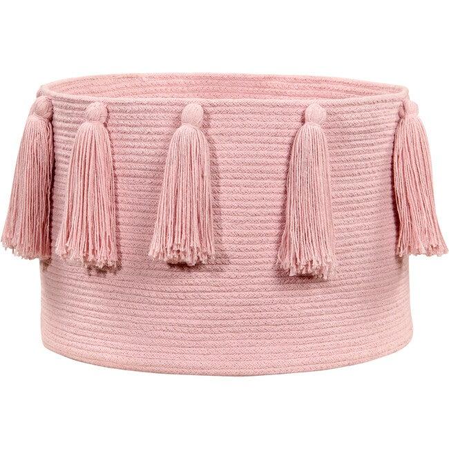 Tassels Basket, Pink