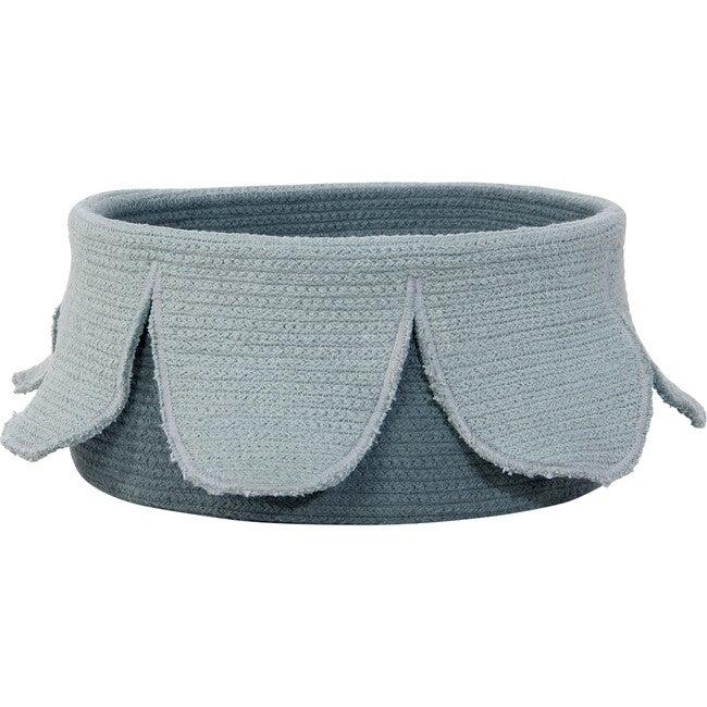 Petals Cotton Basket, Vintage Blue